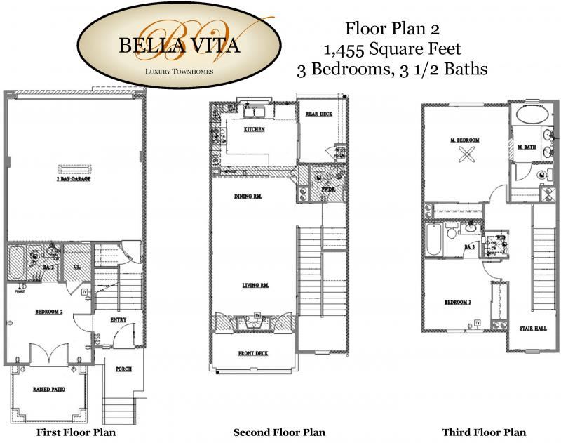 Baldwin park homes llc bella vita floorplans for Baldwin floor plan